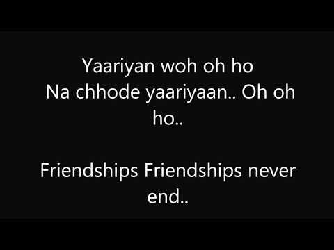 Yaariyan-Cocktail English Subtitles........