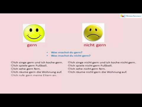 Deutsch Lernen | gern oder nicht gern |