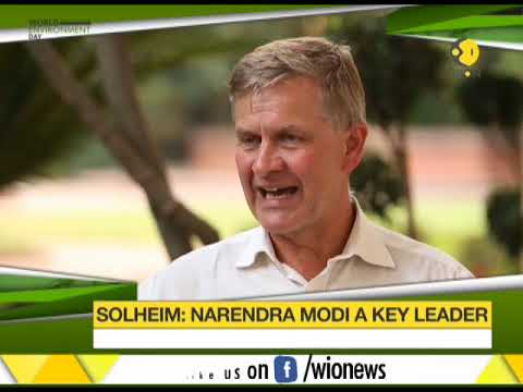 UN environment head Erik Solheim hails PM Modi as a key world leader on climate issues