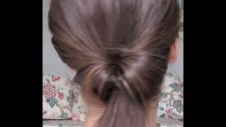 A Twist In the Pony- New Way To Do The Do! Twisted Ponytail Hair Tutorial For Straight Hair