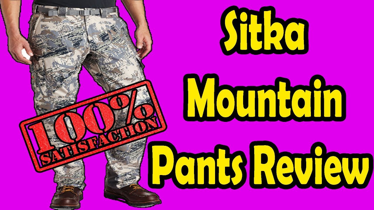 9d3026594f168 Sitka Mountain Pants Review 2017 - YouTube
