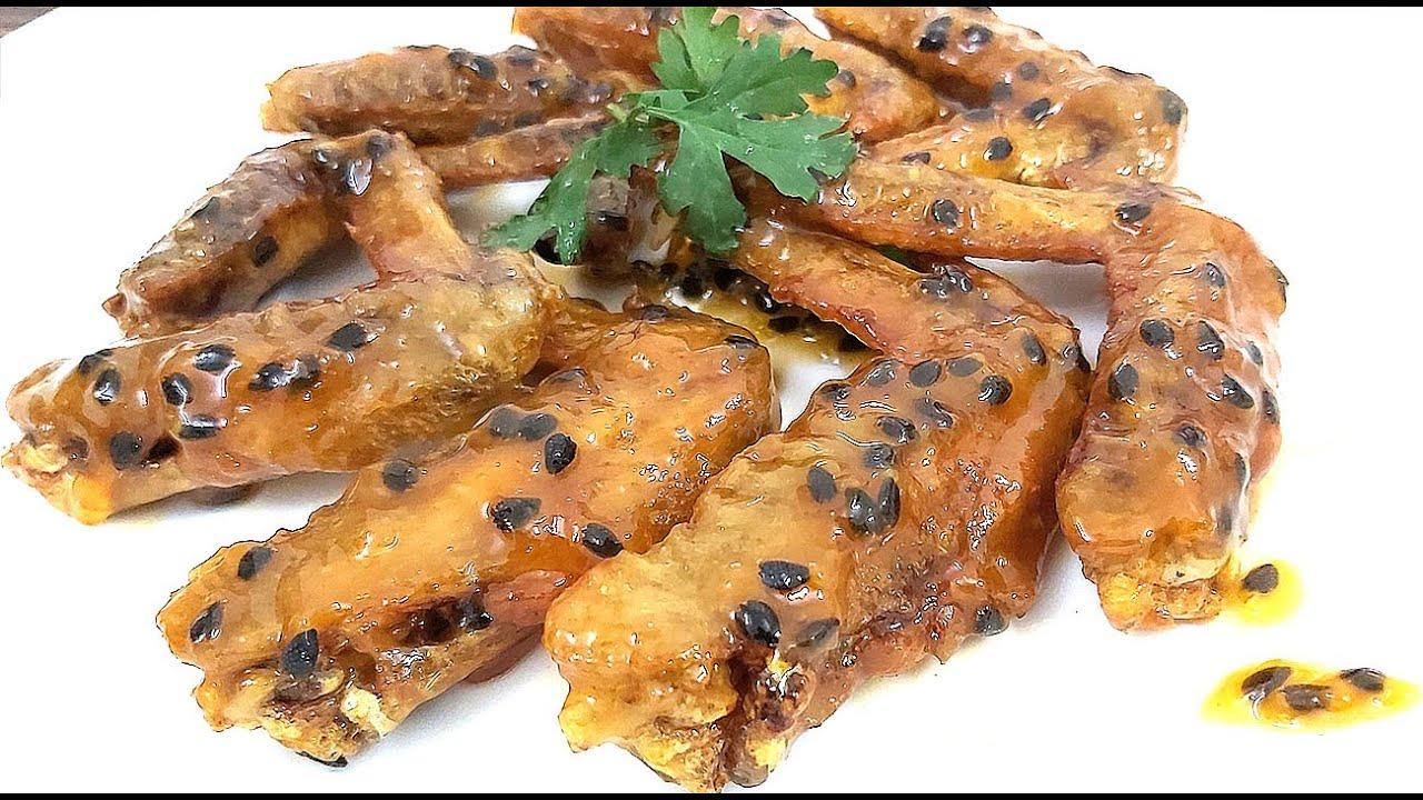 Cách làm món Cánh Gà Sốt Chanh Dây món ăn ngon thay đổi khẩu vị cho Gia Đình của Hồng Thanh Food