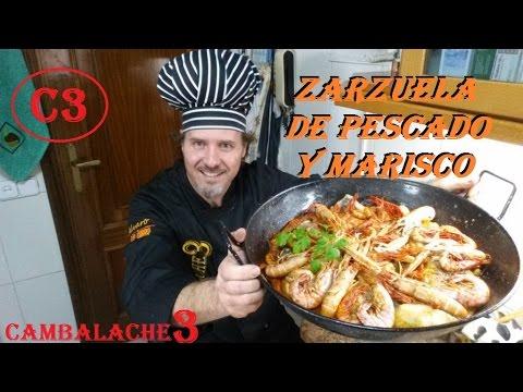 Zarzuela de pescado y marisco youtube for Canelones de pescado y marisco