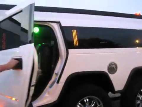 Ext rieur et int rieur du hummer h2 chez vachoux limousine for Interieur hummer