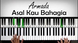 Belajar Keyboard - Asal Kau Bahagia - Armada | Tutorial