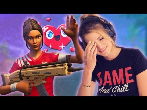 FLIRTING WITH RANDOM SQUADMATES! (Fortnite: Battle Royale) | KittyPlays