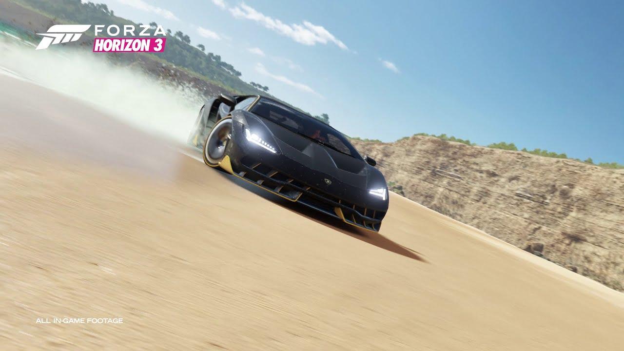 Lamborghini Centenario Forza Horizon 3 E3 Official Trailer Youtube