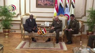 بالفيديو| لقاء وزير الدفاع المصري مع وزير شئون المحاربين القدامى الأوغندي