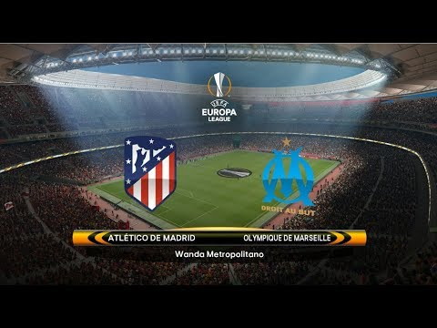 Atletico Madrid 3-0 Marseille | FINAL Europa League 2018 | Griezmann vs Payet | PES 2018 Gameplay HD