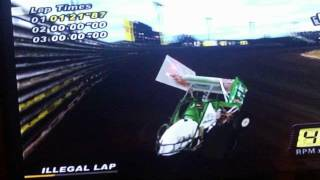World of outlaws sprint cars 2002 (ps2) funny glitch
