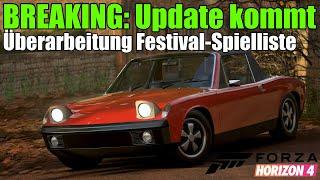 Forza Horizon 4 News - BREAKING: Update verändert die Festival-Spielliste!