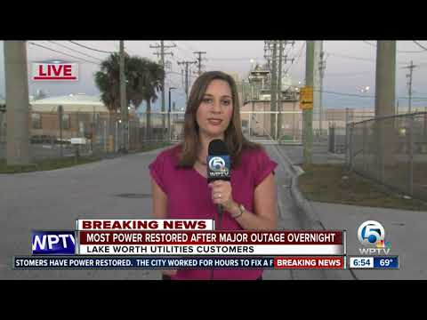 Power restored in Lake Worth after major overnight outage