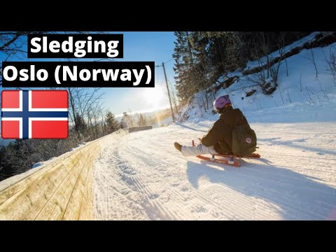 Oslo Travel Guide: Downhill sledding (Winter Sport) at Korketrekkeren (Frognerseteren)