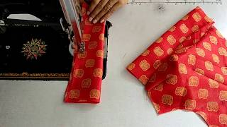 Simple blouse cutting and stitching  Very Easy Method Full Video