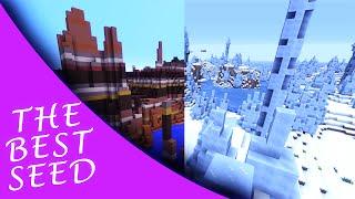 BEST SEEDS #1 - Minecraft Console:  Biome Mesa, Ice Spikes ! (TU31)