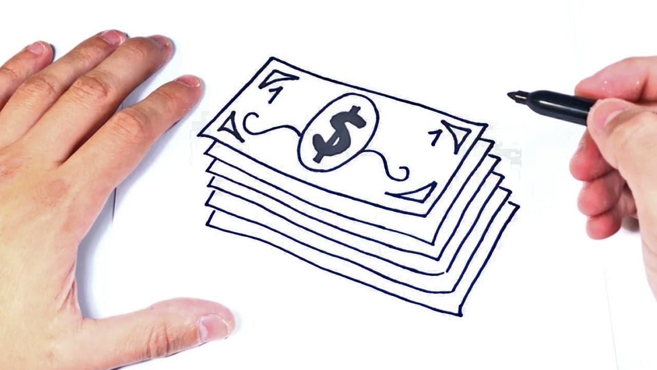 Como Dibujar Billetes De Dinero Dibujar Dinero