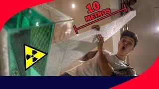 10 METROS DE ISOPOR VS AQUÁRIO DE ACETONA