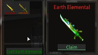 WE CRAFTED THE EARTH ELEMENTAL! (Roblox Assassin)