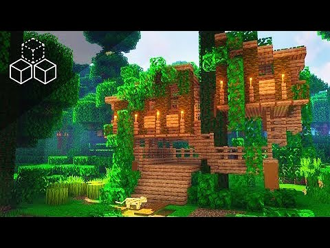 One Chunk Jungle Treehouse Minecraft Tutorial Youtube