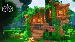 One Chunk Jungle Treehouse | Minecraft Tutorial