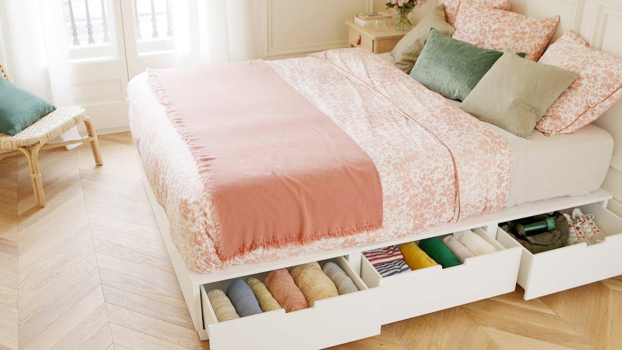 espacio debajo de la cama