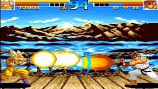 [TAS] Goku VS Ryu (Top Fighter 2000 MK VIII)