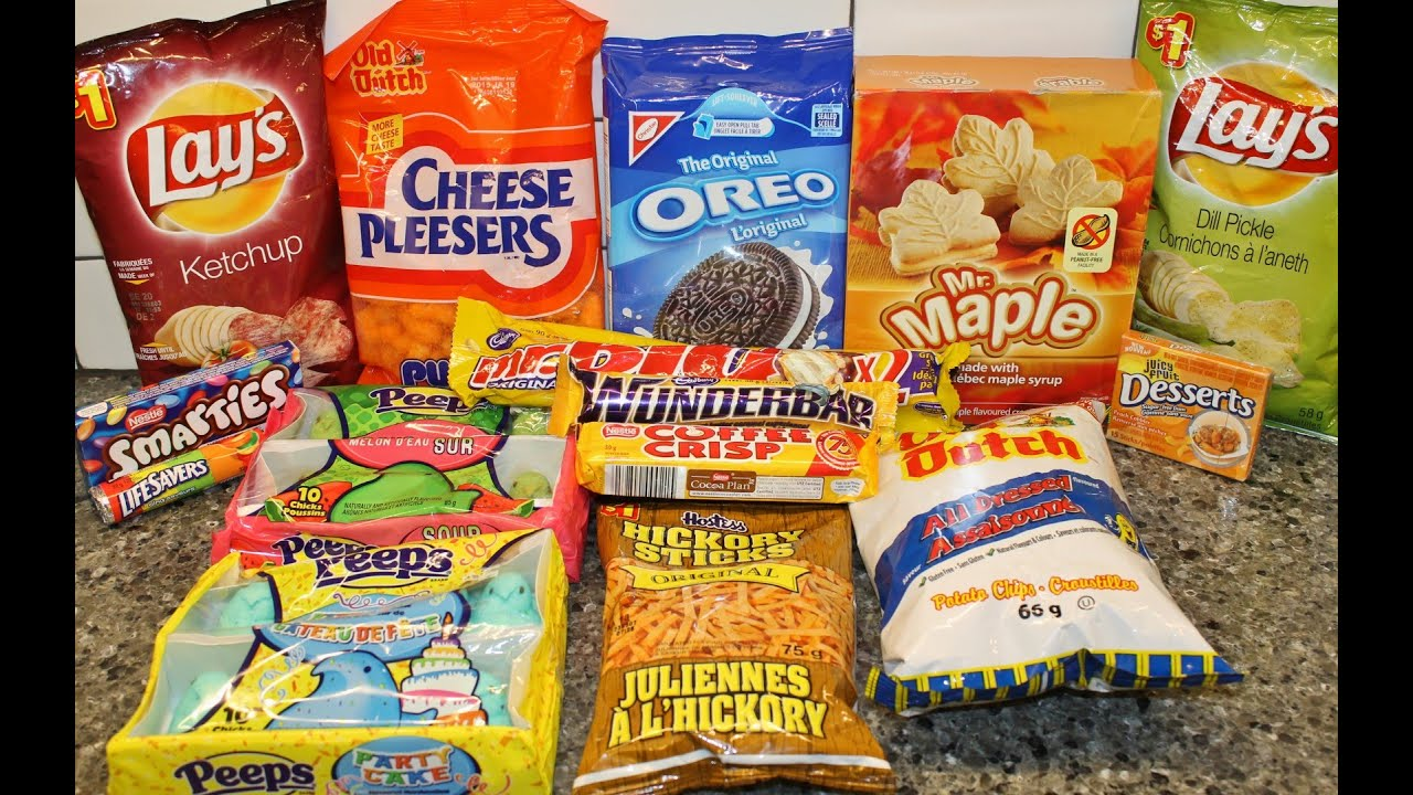 Salty Snacks & Sweets From Canada Unboxing - YouTube