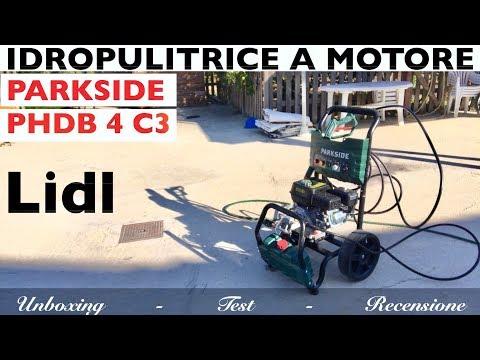 Idropulitrice A Motore, Lidl. Parkside PHDB 4 C3. Alta Pressione. 180. Benzina 4T. Test Recensione