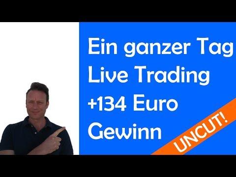 Full day of live trading! DAX, Dow, EURUSD und Gold mit devisen-handeln.org und + 134 Euro Gewinn