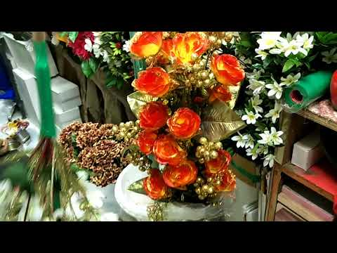 artificial flowers wholesale market || fancy flowers || plastic flower wholesale market