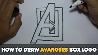 Drawing: How to Draw a Cartoon - Avengers Box Logo (Tutorial Step by Step)