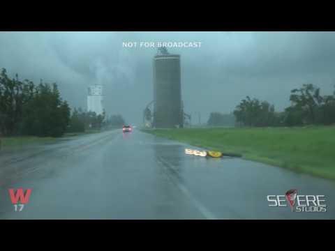 Greensburg-Pawnee Rock, Kansas Rain-wrapped Tornadoes and Damage - 5/16/17
