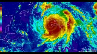 10/04/16 - Hurricane Matthew making landfalls in Haiti and Cuba