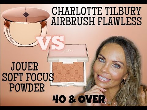 JOUER SOFT FOCUS HYDRATE POWDER VS CHARLOTTE TILBURY AIRBRUSH POWDER
