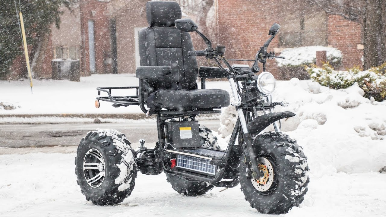 boomerbeast tackles the snow only mobility scooter for. Black Bedroom Furniture Sets. Home Design Ideas