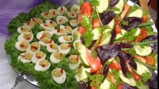 видео  Заказать доставку канапе и закусок на праздничный стол