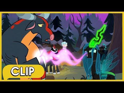 Chrysalis Saves Tirek And Cozy Glow From An Ophiotaurus - MLP: Friendship Is Magic [Season 9]
