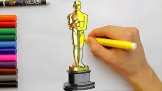 Comment dessiner la statue des Oscars pour enfants | Livre de coloriage pour les tout-petits