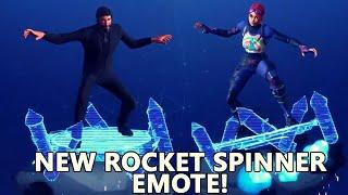 NOUVEAU Fortnite Rocket spinner emote vitrine sur différentes peaux!