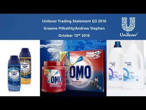Unilever Q3 2016 Results Webcast
