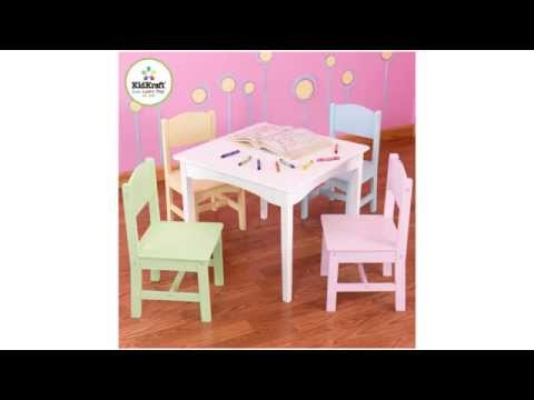 Kidkraft Nantucket Table Pastel Chairs