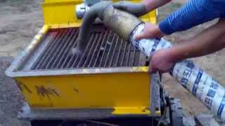 concrete trailer pump machine/mortar cement pouring pump equipment for building construction