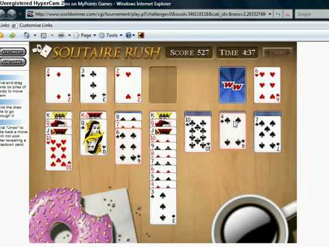 Solitaire Rush, W3 Games Champ In Action!