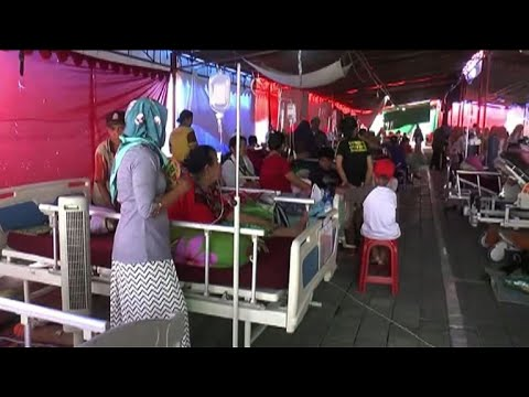 Séisme à Lombok : un hôpital évacué, des patients sur le parking