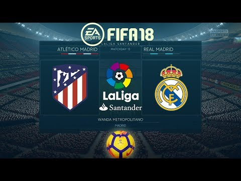 FIFA 18 Atlético Madrid vs Real Madrid | La Liga 2017/18 | PS4 Full Match