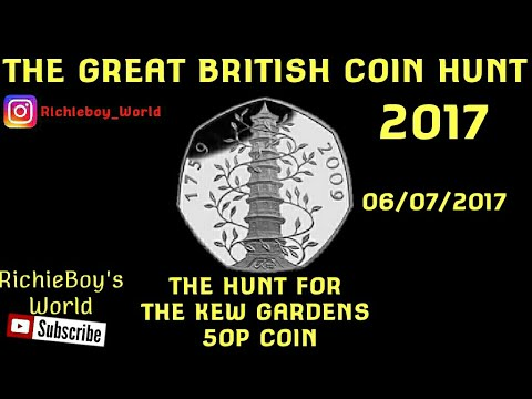 UK Coin Roll Hunting, Bag opening, 50p, Hunt For Kew Gardens, £150 in 50p, 05/07/2017