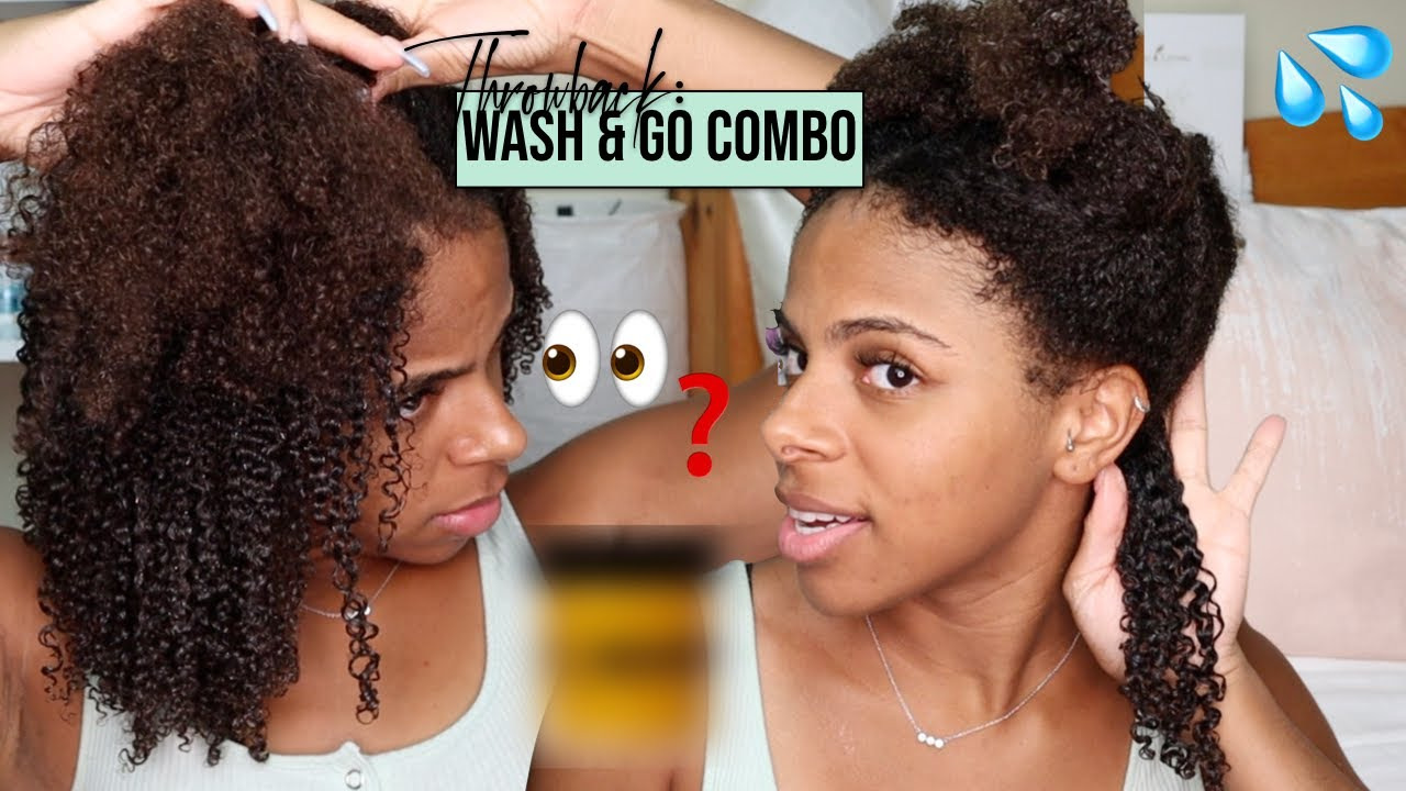 Throwback 2 Product Wash & Go on Type 4 Hair 😭|| Bomb Product Combo?? 🤨