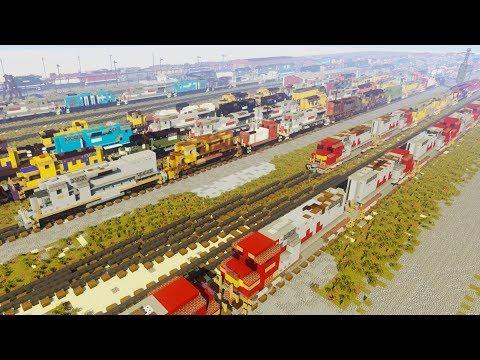 Minecraft National Railway Equipment Yard Silvis Review