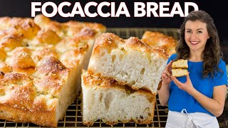 HOW TO MAKE SΟFT and CRISPY FOCACCIA BREAD
