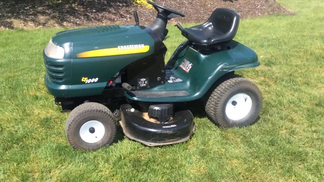 Craftsman LT1000 riding lawn mower | For Sale | Online Auction